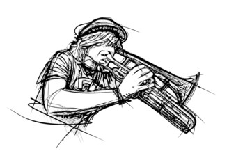 trumpeter illustration