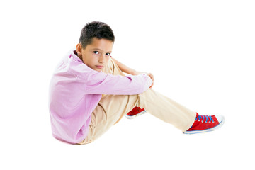 Casual young boy portrait