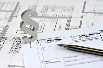 Baurecht, Baugenehmigung, Bauantrag, Baugesetz, Bauordnung