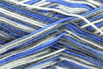 skein of wool for knitting abstract background