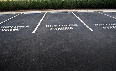 Empty Customer Parking Spaces