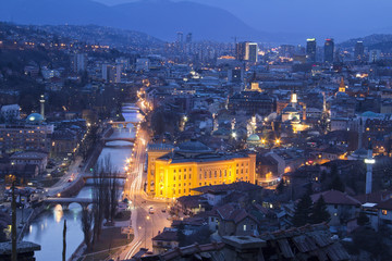 Sarajevo, Bosnia and Herzegovina, at night
