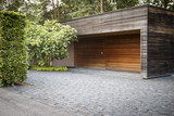 Car garage on the countryside of switzerland - 75306794