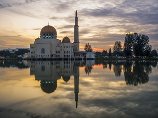 Floating Mosque at Sunrise