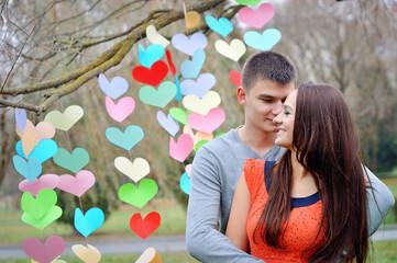 happy lovers on Valentine's Day