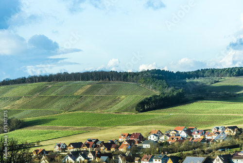 landscape with village of Helmstadt - 75307375