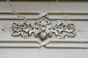 Baroque ornament detail wall decoration