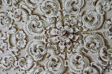 Baroque ornament detail ceiling