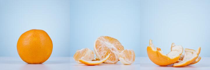 Orange triptych