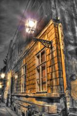 street at night in zagreb