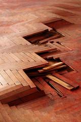 wooden parquet floor red 2