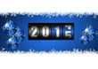 2015 new years vector illustration with counter