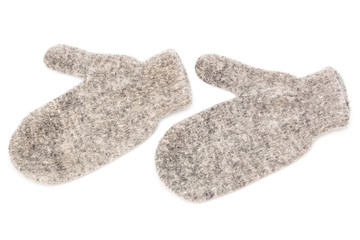 mittens made of wool