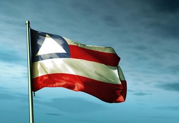 Bahia (Brazil) flag waving on the wind