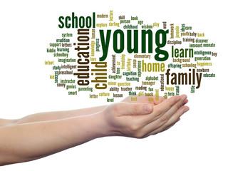 Conceptual  education word cloud