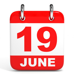 Calendar. 19 June.