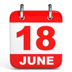 Calendar. 18 June.
