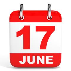 Calendar. 17 June.
