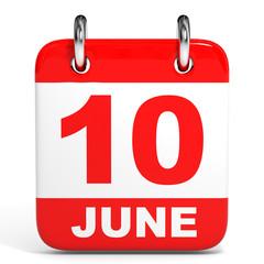 Calendar. 10 June.