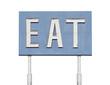 Vintage Blue Eat Sign