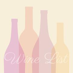wine list elegante