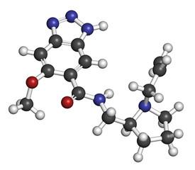Alizapride antiemetic drug molecule. Used in treatment of nausea