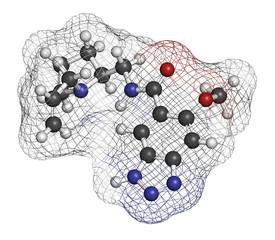 Alizapride antiemetic drug molecule.