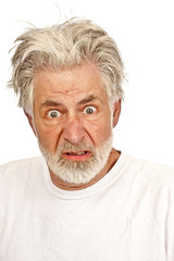Older Man With Expression of Disgust or Anger