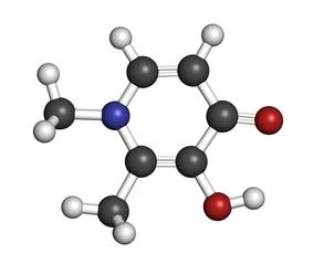 Deferiprone thalassaemia major drug molecule.