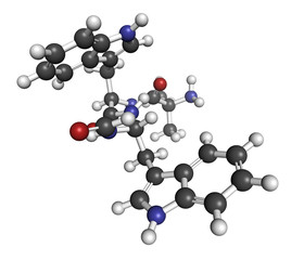Macimorelin adult growth hormone diagnostic drug molecule.