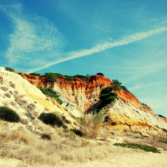 red cliffs and blue sky (Algarve,Portugal)