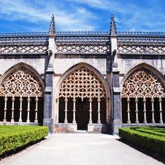 ornamental gothic abbey and garden, Portugal