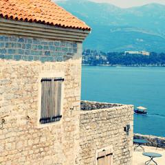 Old mediterranean fort and bay(Montenegro)