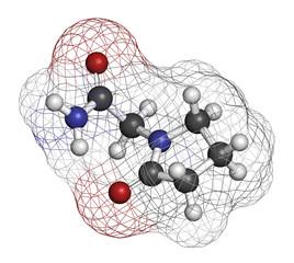 Piracetam nootropic drug molecule.