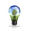 Ecology light bulb concept