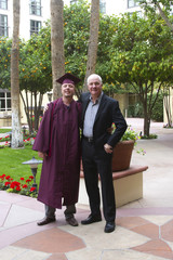 Proud Father at Son's College Graduation