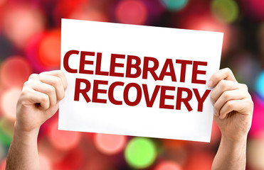 Celebrate Recovery card with colorful background