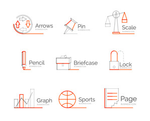 Line minimal design logo collection