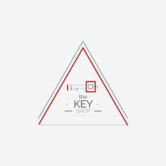 Minimal line design shopping stamps, key