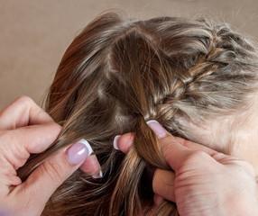 Weave girls braids