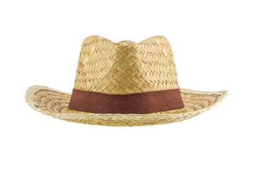bamboo panama hat isolated on white background