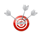 exceptional results target sign poster