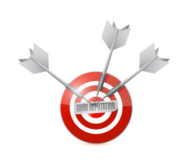 good reputation target illustration