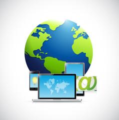 technology electronics and Globe