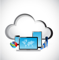 cloud computing business illustration