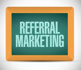 referral marketing sign board