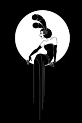 Art Deco Lady fashion design