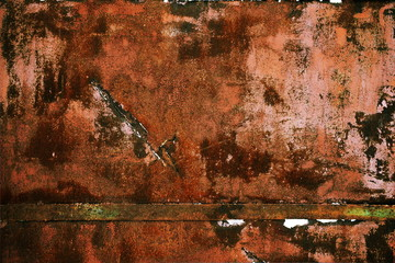 natural metallic background with rust