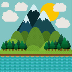 Landscape design, vector illustration.
