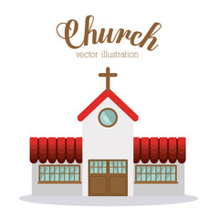 Church design, vector illustration.